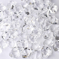 acrylic ice rocks - 25 MM Wedding Favor Party Transparent Acrylic Crystal Gem Stone Ice Rocks Table Scatter Confetti Vase Filler grams
