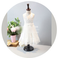 beautiful sundresses - Summer New Girls Dresses Children Clothes Dress Sundress Lace Gauze Tulle Long gallus Kid Girl Beautiful Party Dressy White A6088