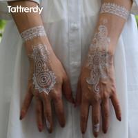 Wholesale Waterproof Metallic Gold Silver White Body Temporary Tattoo Sexy Flash Tattoos Sticker For India Arabic Hand Fake Henna S1014