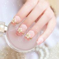 Wholesale Hot false nails fake nails nail art tools tablets SMT Pearl flower bridal nail art nail supplies with glue