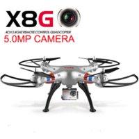 Photographie aérienne Drone Syma X8G Quadcopter 5.0MP FPV en temps réel WIFI HD caméra avec grand angle sans tête RC hélicoptère jouets cadeau