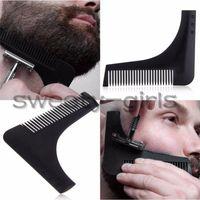 Wholesale Beard Bro Beard Shaping Tool beard shaper for Perfect Lines Hair Trimmer for Men Trim Template Hair Cut Gentleman Modelling Comb