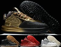 air force ones - 2016 Air KPU Mens Running Shoes Lunar Force Duckboot I Men Shoes Skateboarding Airforce Sneaker Sports Trainers Force One Shoes Gold White