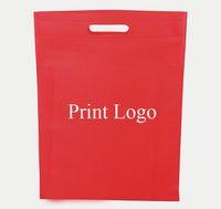 advertising pp bags - 25 cm pieces Eco friendly Non woven bag custom printed LOGO handbag advertising Promotion Gift Shopping bags