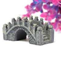 antique garden accessories - 1Pcs Resin DIY Micro Landscape Stone Bridge Ornament Bonsai Gardening Accessories Gift