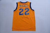 Wholesale McCall Yellow From Movie Jersey CRENSHAW Jersey Size S small XL