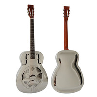 Wholesale Style O chrome plated Brass Body blues slide Acoustic Resonator Guitar free case