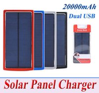 Wholesale Portable Solar Charger Power Bank mAh W High efficiency for Mobile Phone Tablet Camera External Solar Panel Charger