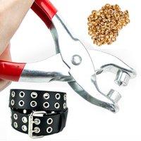 Wholesale DIY Grommet Rivet Eyelet Plier Shoes Eyes Hole Leather Belt Shoe Punches Tool