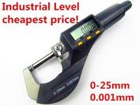 Wholesale Cheap Caliper - 0-25mm digital micrometer electronic micrometer 0.001mm micron outside micrometer caliper gauge measuring tools cheap price