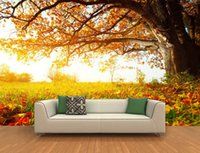 autumn leaves wallpaper - Custom any size D autumn leaves maple leaves autumn leaves twilight scenery background wall
