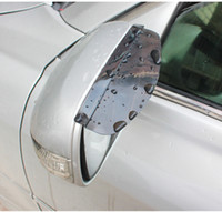 Wholesale Universal Flexible PVC Car Rear View Mirror Sticker Rain Shield Guard Auto Rearview Mirrors Rain Shade Rainproof Eyebrow Cover