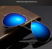 authentic aviator sunglasses - 17 Colors Aviator Sunglasses For Sale Brand Designer Summer Sunglasses Men Women UV400 Protect Designer Authentic Sunglasses