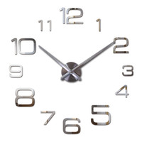 Wholesale new hot quartz sale quiet wall clock interesting d diy home decor clocks roman numeral art stickers single