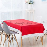 Wholesale Fedex DHL Free Christmas Tablecloth decoration red Table cloth Home Curtain Table Cover Dinner Tablecloth Table xmas Decoration Z644 B