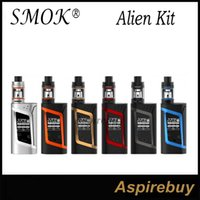 baby genius - SMOK Alien Kit Alien TC Box Mod with ML TFV8 Baby Tank TCR Mode Dual Battery Large Air Chamber with Four Alternate Coils Genius