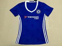 Thailand jersey soccer Baratos-^ _ ^ Venden al por mayor 16/17 jerseys del fútbol de las mujeres del chel hogar tailandés de la calidad del AAA nombre de encargo muchacha del uniforme del fútbol de la muchacha del uniforme de la señora del número