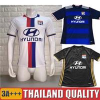 Wholesale 2016 Maillot de Foot Olympique Lyonnais Lacazette Valbuena Maillot Lyon Soccer Jersey Gonalons Fekir Olympique Lyon Football Shirts