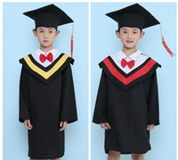 academic dress - Kids Primary School Graduation Gown With Hat Performance Clothing Academic Dress Gown Kindergarten Dr Bachelor Clothes