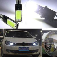 Wholesale 2Pcs T10 W5W W LED Canbus No Error COB Lamp Wedge Light Bulb White M00009