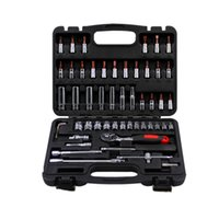auto paint cleaning - 53pcs set steel auto Flexible Head sleeve combination tool ratchet wrench set of hardware car repair tools
