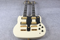 Cheap Factory custom High Quality SG Double cream Neck Electric Guitar SG 1275 Model cream Finish For Sale EMS free shipping