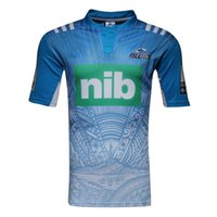 Wholesale Top Thai quality New Zealand super rugby Blues Alternate rugby jerseys men best Blues rugby shirts size S XL