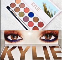 Wholesale In Stock Newest The Royal Peach Palette Kylie Jenner Cosmetics Kyshadow eye shadow Kit colors Eyeshadow Bronze and Burgundy Palette dhl