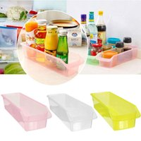 Wholesale Plastic Kitchen Refrigerator Fruit Organiser Rack Fridge Storage Collecting Box DIY Kitchen Storage Tools