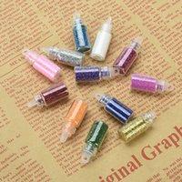 Wholesale Color Nail Glitter D Nail Art Decoration Nail Art Bottle Tip Set FM031