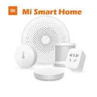 al por mayor zigbee casa inteligente-Venta al por mayor- Xiaomi Smart Home Systems sin hilos Switch Gateway Sensor del cuerpo humano Zigbee Socket Smart kits de automatización del hogar