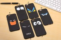 apples panda - Thin Full Edge matte hard case monsters staring blank panda yellow eye back cover for iphone S Plus protective case