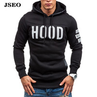 basics jacket mens - JSEO Mens Hip Hop Basic Pullover Sweatshirts Hoodie Jacket Fleece Hood Letter Printed Outfitter Sports Hooded Sweater Outerwear