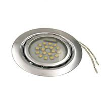 Vente en gros-1.5W 12V spot LED encastré spotlight froid chaud blanc acier cuisine cabinet armoire vitrine down lamp