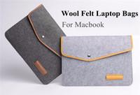 Wholesale New Arrived Slim Woolen Felt Laptop Notebook Sleeve Bag Case Skin Cover For MacBook Air Pro Retina Inch Bag Case