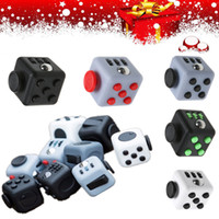 Wholesale Novelty Fidget Cube Desk Toy Fun Stress Relief Focus Finger Games Vinyl Toys Adults Children Decompression Anxiety Toys Xmas Gifts F201