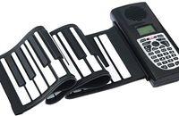 Enrollar 61 teclas España-Promoción Los más nuevos 61 llaves flexibles portátiles Roll Up Piano electrónico suave teclado de silicona Midi Digital Synthesizer