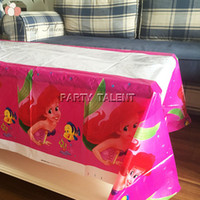 Wholesale Party supplies Sea Mermaid Princess theme party birthday party decoration disposable table cloth table cover
