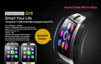 achat en gros de bracelet shiping libre-Free Shiping Q18 Smartwatch montre-bracelet Q18S Smart Watch 1.3M HD Support de l'appareil 2G SIM Card Bluetooth 3.0 NFC pour les téléphones Android iPhones
