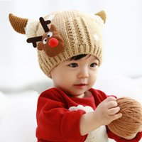 Wholesale Neck Wrap Scarf Hats Fashion Baby Girls Boys Children Ear Knit Sweater Cap Hats Winter Warm Knitted