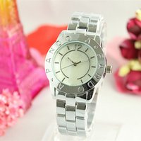 Wholesale Stainless Steel Luxury fashion Wristwatch steel Quartz Watches brand watch colorful Watches