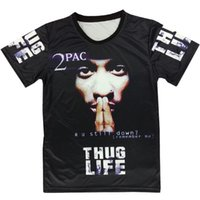 Wholesale Raisevern harajuku summer D t shirt print tupac pac thuglife t shirt men women s tee hiphop punk short sleeve tshirt plus size