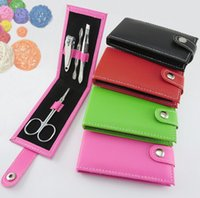 Wholesale In Kit Nail Clippers Manicure Set Nail Tools Sets PVC And High Carbon Steel Random color