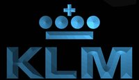 Cartoon airlines klm - LS1181 b KLM Royal Dutch Airlines Neon Light Sign jpg