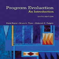 Wholesale 2017 New Book Program Evaluation An Introduction to an Evidence Based Approach th Edition ISBN