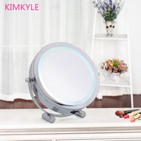 bedroom definition - 7 inch fashion high definition with LED desktop makeup mirror Face princess dressing mirror X magnifying bedroom decoration