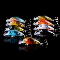 Wholesale 9 color cm g plastic baits Hard Lures Fishhooks D Minnow Fishing Lure Hooks Hook Artificial Pesca Tackle