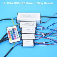Wholesale Waterproof W W W W W RGB LED Driver for RGB LED Chip COB SMD LED Beads with Key Remote For Floodlight Spotlight
