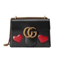 Wholesale women bag heart shaped shoulder bag high quality women messenger bags brand leather Vintage bag chains handbag NEW