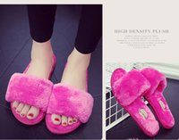 Wholesale Women s Cozy Fleece House Slippers Cotton Cloth Spa Slippers cotton Comfort Slippers Gum Outsole Bottom interior wooden floor plush slipper